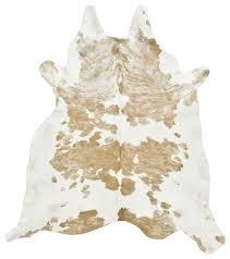 palomino and white cowhide rug