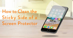 this post comes from our social media manager who had to learn firsthand how to clean the sticky side of a screen protector for her new iphone
