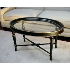 design gold oval coffee table beautiful oval glass top coffee table black