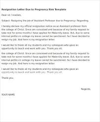 5 Resignation Letter Templates Due To Pregnancy Pdf Doc Free
