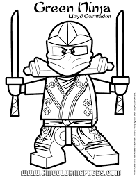 Small Picture Lego Ninjago Color Pages Lego Ninjago Kai Zx Coloring Pages Best