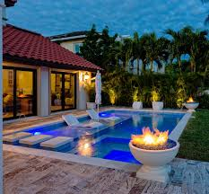 This is the perfect space to relax. A small pool with seating and shade  built
