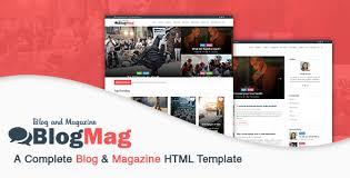Free Html Newspaper Template Blogmag A Complete Blog Magazine Html Template