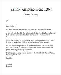 announcement format sample announcement letter template 9 free documents download in