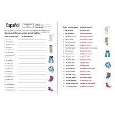 Gender Of Nouns In Spanish Worksheet Worksheets for all | Download ...