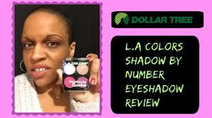 dollar tree l a colors eyeshadow makeup review ellenyar beauty l a colors