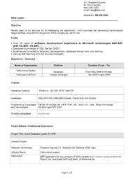 Resume Format For Be Mechanical Freshers It Resume Cover Letter