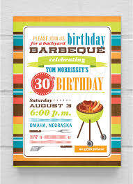 Barbeque Invitation Birthday Invitation 30th 40th 50th 60th 70th 80th Birthday Bbq