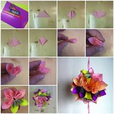 Paper Flower Origami Diy Origami Paper Flower Ball