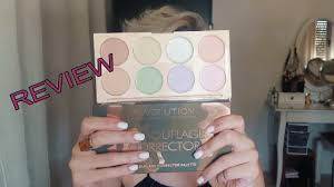 review camouflage corrector palette makeup revolution