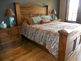 Great Durango Bed With Honey Stain And Black Glaze | Western Furniture | Mountain Style  Furniture |