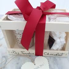 personalised fondue set chocolate