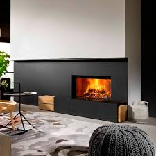 Modern Wood Burner Fireplace Designs Wood Burning Fireplace Contemporary Closed Hearth