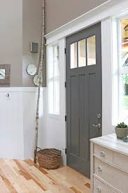 charcoal paint colorFront Door Refresh  The Inspired Room
