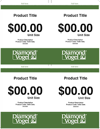 Price Card Template | Diamond Vogel