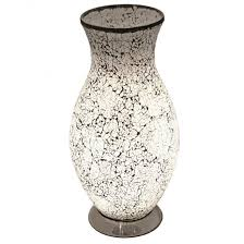 vase lighting. Crackle Glass Vase Lamp (Available In A Selection Of Colours) Lighting