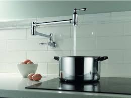pot filler faucet height delta traditional wall mount pot