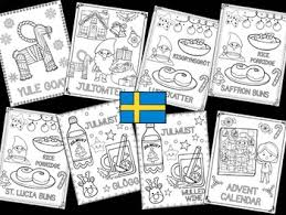 Christmas Around The World Coloring Pages The Crayon Crowd Sweden