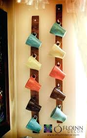 wall mounted mug holder