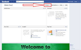 the manage on will give you a drop down box with options now just select use facebook as page name