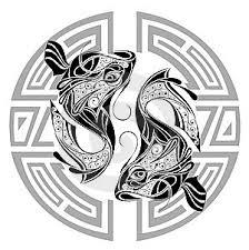 Ilustrace13019255 Zodiac S Volantem Znamení Ryb Tetování Design