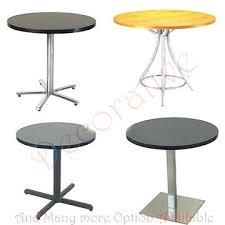 round cafe table base