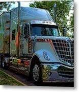 2009 International Lonestar Car Transport Semi Truck Metal Print