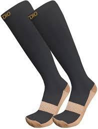 Plus Size Copper Compression Socks Black
