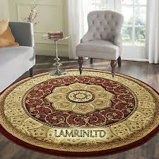 details about classic oriental circle rug round thick prestige traditional round rug 150x150cm