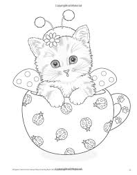 printable coloring pages teacup kittens coloring book kayomi harai 9781497202269 amazon books