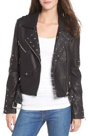 vigoss studded embroidered faux leather moto jacket women coats jackets dclotb