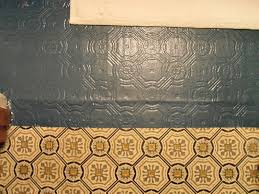 i love how the original floor pattern shows through the new paint