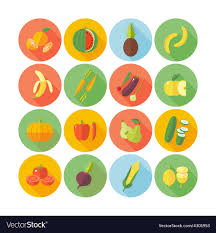 Google Flat Design Icons Flat Design Icons For Fruits And Vegetables