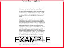 truman show essay themes homework academic service truman show essay themes the truman show essay writing service custom the truman show