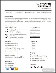 Computer Engineer Resumes Free Software Quality Engineer Cv Template Word Psd