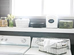 Washer Dryer Shelf Small Laundry Room Storage Ideas Pictures Options Tips Advice