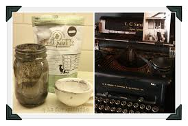 That is my own vintage typewriter by the way, but I am guessing that Miss  Mustard Seed has something similar that inspired the name for this paint  color.