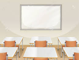 classroom table vector. illustration of an empty classroom with white board, tables and chairs stock vector - 17358290 table