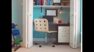 home office closet. All Creative Ideas For Closet Office Designs And Home Layout - YouTube O
