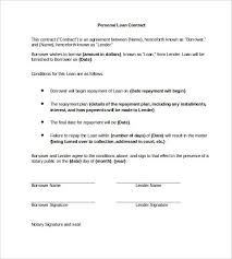 Personal Loan Contract Word 23 Simple Contract Template