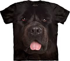 1039332 big face newfie large pet t shirt the mounn