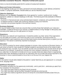 financial counselor resume   sales   counselor   lewesmrsample resume  genetic counselor resume sle for employment