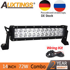 14 Inch Led Light Bar Us 35 99 Auxtings 14inch 72w Straight Double Rows 6500k Combo Beam Led Bar Work Led Light Bar Offroad 4x4 Offroad Car For Auto Jeep Truck In Light