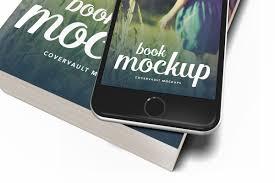 book mockup template paperback iphone