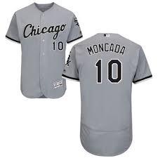 Jersey Yoan Moncada Men's Authentic Chicago Grey Collection - Flex Sox Road Base White Majestic