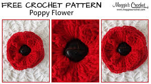 Youtube Free Crochet Patterns Cool Button Poppy Free Crochet Pattern Right Handed YouTube