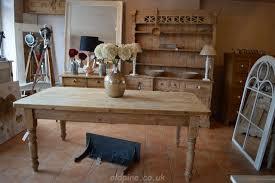 gorgeous scrub top farmhouse reclaimed pine table