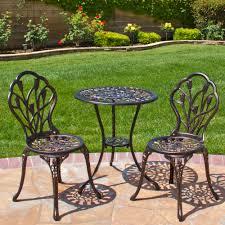 best choice s cast aluminum patio bistro furniture set in antique copper com
