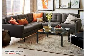 incredible crate and barrel sectional sofa and crate and barrel final week the 15 off sofa