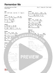 Remember Me Chords Jeremy Good Praisecharts